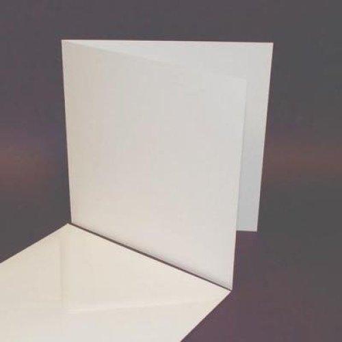 25 Pack - 8x8 White Card Blanks & Envelopes