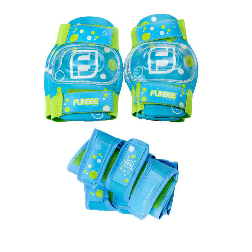 FUNBEE Boy's Kid's Activities Extra Small Wrist Guards, Extra Small Elbow Pads..