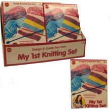 Children's 1st Knitting Set -  set knitting my craft first 1st childrens girls kids kit toy wool