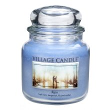 Village Candle 16oz Scented American Medium Jar Candle with Double Wick Rain