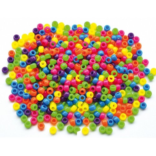 Pbx2470750 - Playbox - Plastic Beads (kongo ) Neon - 1000 Pcs