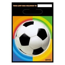 Championship Soccer Party Bags - Football Loot Birthday Bag 9 Plastic Sports -  party football soccer loot championship birthday bag 9 plastic bags