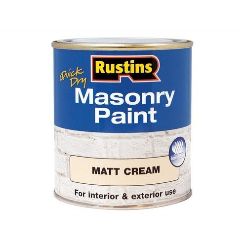 Rustins MASPC500 Quick Dry Masonry Paint Cream 500ml