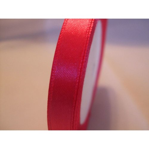 Satin Ribbon Roll - 10mm Wide - 25 Yards (22 Metres) - Fuchsia