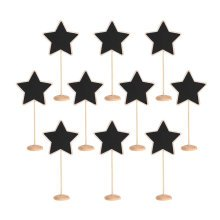 TRIXES 10pcs Star Table Chalkboards on Stand