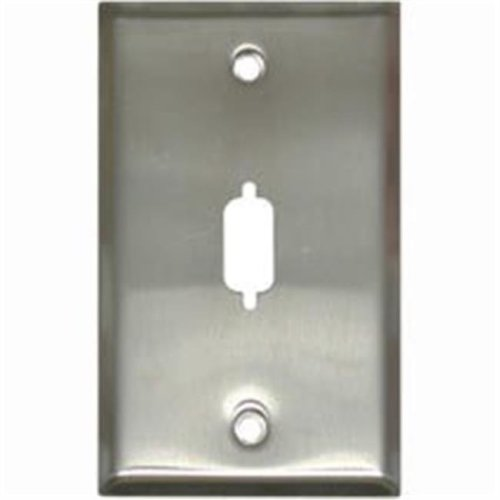 Cables To Go 37100 HD15-DB9 D-SUB WALL PLATE - STAINLESS STEEL
