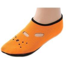 Orange Fashionable Diving Socks Portable Swimming Socks Beach Socks