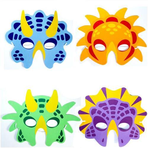 6 Foam Dinosaur Masks