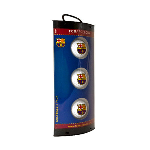 Fc Barcelona 3 Pack Golf Ball Gift Set - Foot Balls Club Crest -  golf football barcelona fc balls 3 gift club crest