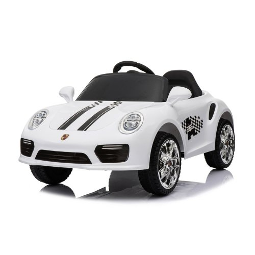 (White) 12V Porsche 911 Turbo S Kids' Ride-On | Electric Ride-On Porsche