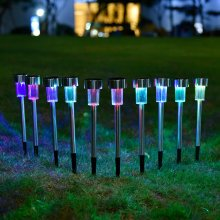 10pcs/lot Stainless Steel Solar Lawn Light