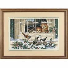 D03839 - Dimensions Counted X Stitch - Three Bird Watchers
