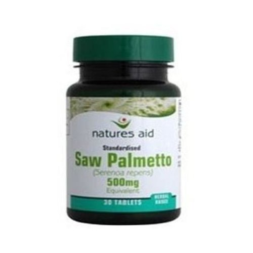 Natures Aid Saw Palmetto 500mg Tabs | 90s