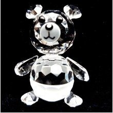 Cut Crystal Baby Teddy Bear Ornament