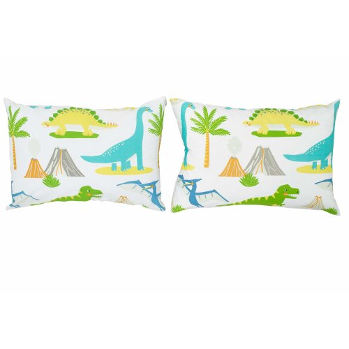 Bloomsbury Mill Dinosaur World - Kids Design - Pair of Pillowcases (Extra)