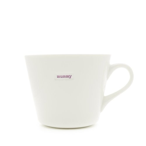 Keith Brymer Jones Word Range 'mummy' Bucket Mug, 0.35L - White
