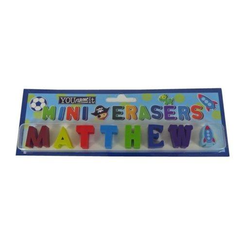 Childrens Mini Erasers - Matthew