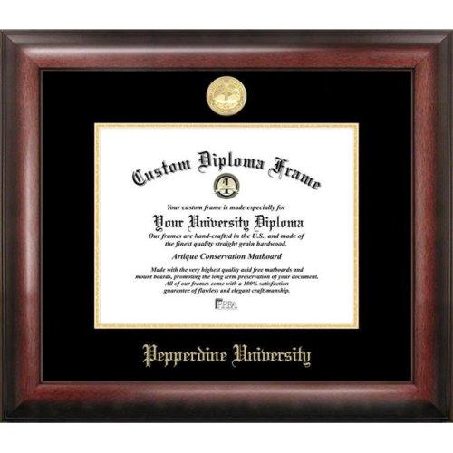 Pepperdine University  Gold Embossed Diploma Frame