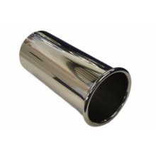 """3"""" Rolled Exhaust Tip Stainless Steel 304 Grade Exhaust Weld On"""