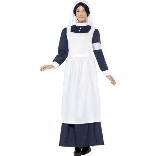 bee8531ed2 Smiffy's Adult Women's Great War Nurse Costume, Dress And Headpiece, Tales  Of - - war nurse costume dress ladies fancy outfit great ww1 adult on OnBuy