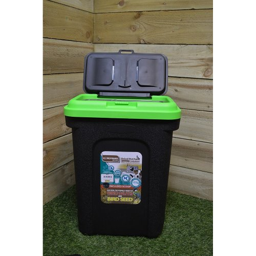 30L Black Pet Food Storage Box with Rubber Seal