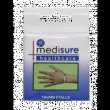 Large Medisure Plastic Thumb Stalls -  medisure thumb stalls flexible pvc large pair choose your size 2 plastic