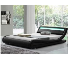 Modern Italian Designer Bed with LED Mood Lighting