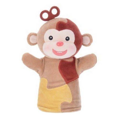 Cute Monkey Model Creative Toy Early Learning Dolls Hand Puppets Animal Puppets