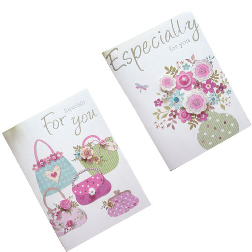 Set of 10 Lovely Cards Thank You Greeting Card Assortment,Flowers&Bags