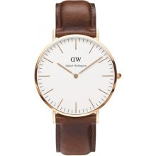 Daniel Wellington DW00100006 Watch Brown Leather Man