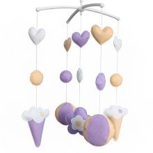 [Purple & Sweet] Exquisite Handmade Toys Crib Decor Musical Mobile