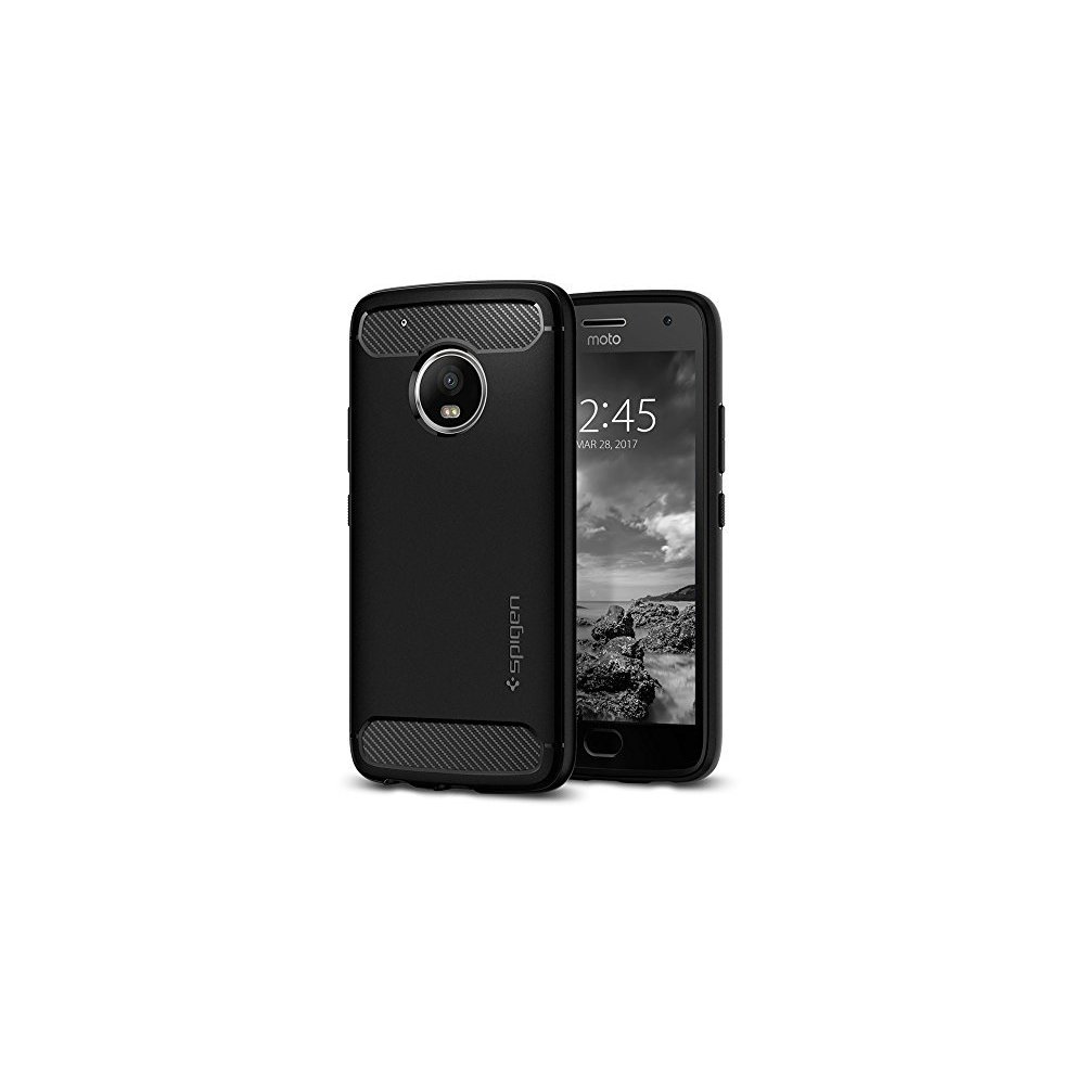 cozy fresh 20e03 691f6 Moto G5 Plus Case, Spigen [Rugged Armor] Resilient [Black] Ultimate  protection from drops and impacts for Motorola Lenovo Moto G5 Plus(2017)  -...