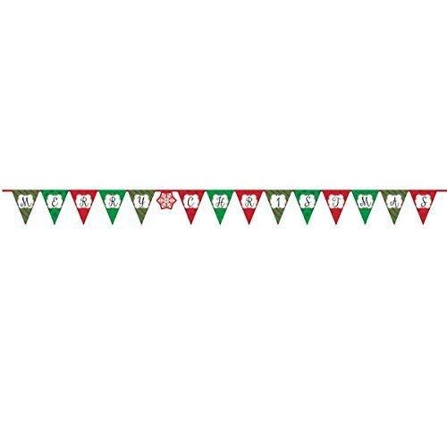 Merry Christmas Pennant Banner 3.8m -