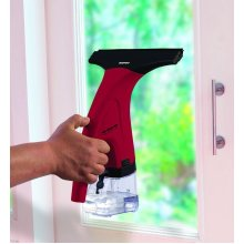 Daewoo Rechargeable 12W Hand Held Glass Window Cleaning Vac Vacuum - Red & Black