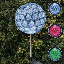 10 cm Solar Crystal Stake LED Ball Light - Colour Changing