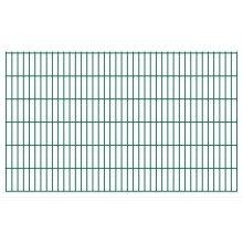 vidaXL 2D Garden Fence Panels 2008x1230 mm 34 m Green