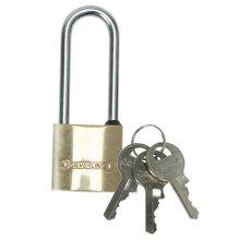 Silverline Brass Padlock Long Shackle 50mm - Mss04l -  brass padlock long shackle 50mm silverline mss04l