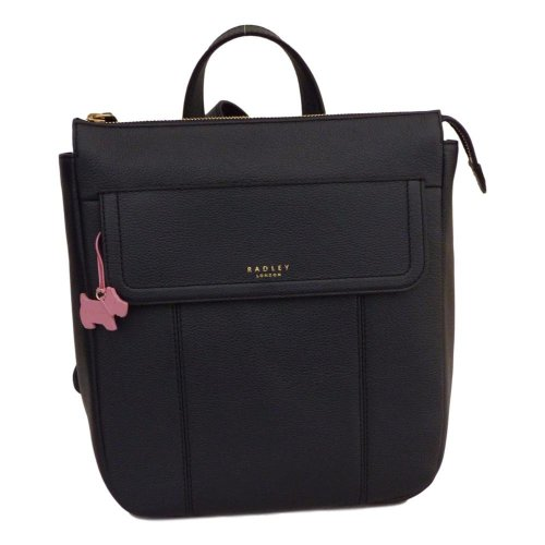 Radley Rosedene Navy Blue Leather Backpack