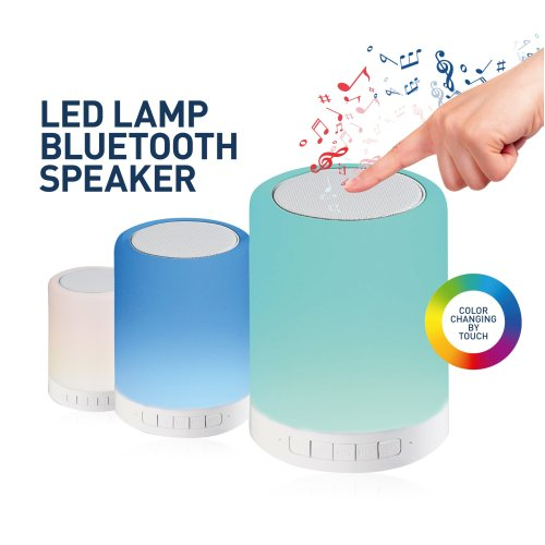 PLATINET Bluetooth Touch LED Lamp Speaker 6 colour Changeable