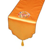 Chinese Embroidery Rural Table Runner Bed Runner Tablecloth Bed Flag, G