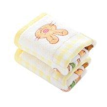 Set Of 2 Soft&Comfy Rabbit Baby Toewl Hand Towel 52x26cm [Yellow]