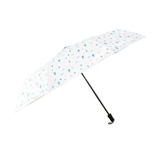 Sunscreen Sun And Rain Umbrella Anti-UV Original Design Folding Umbrella, White