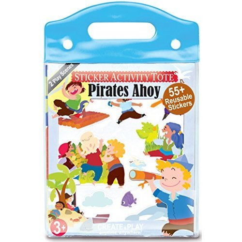 The Piggy Story Pirates Ahoy! Reusable Cling Sticker Activity Tote with over 55 Stickers