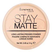 Rimmel London Stay Matte Pressed Powder, 006 Warm Beige, 14 g