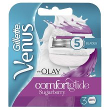 3 x Gillette Venus and Olay Sugarberry Scent Women's Replacement Razor Blades