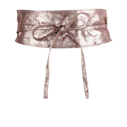 Tie Round PU Leather Waist Cinch Belt