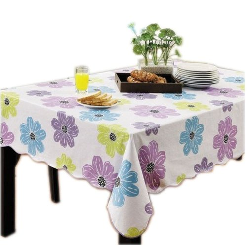 Fashionable Flower Rectangular Tablecloth (152*265cm)