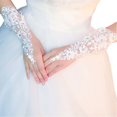 Bridal Wedding Gloves Party Dress Lace Long Gloves A19