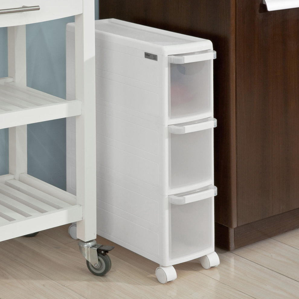 Sobuy 174 Frg41 K W 3 Drawers Plastic Storage Drawer Unit On