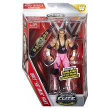 "WWE Elite Collection Action Figure Series 43 - Bret ""Hit Man"" Hart New Sealed"
